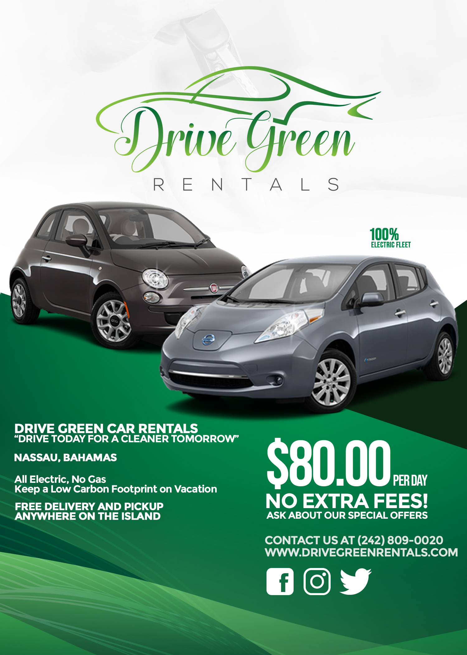 Drive Green Rentals Design Table Tent May 2019